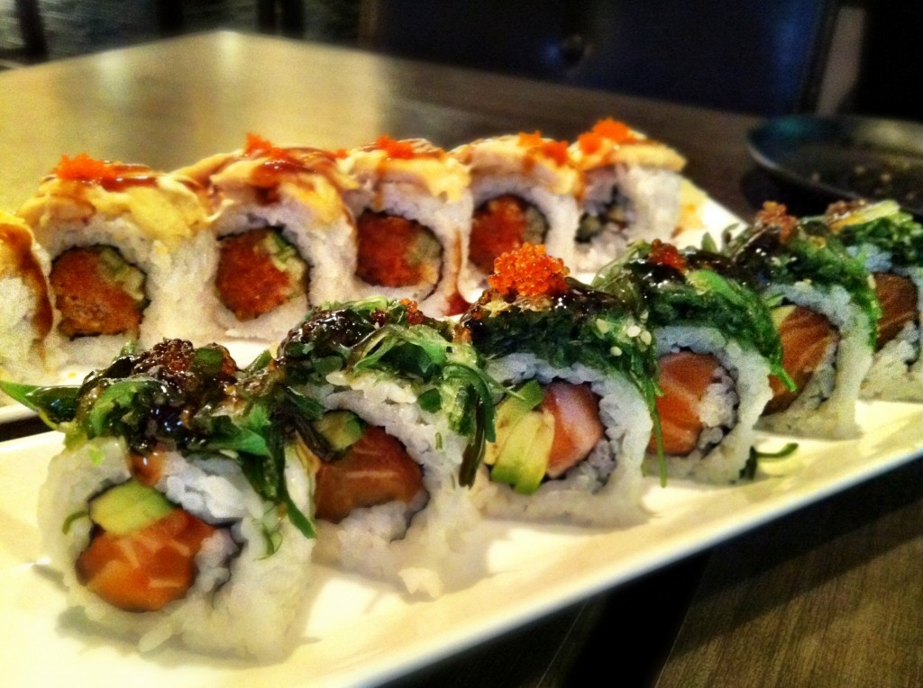Chef Special Rolls: Tuna Lover (back) & Submarine (front) @ Charcoal Sushi BBQ