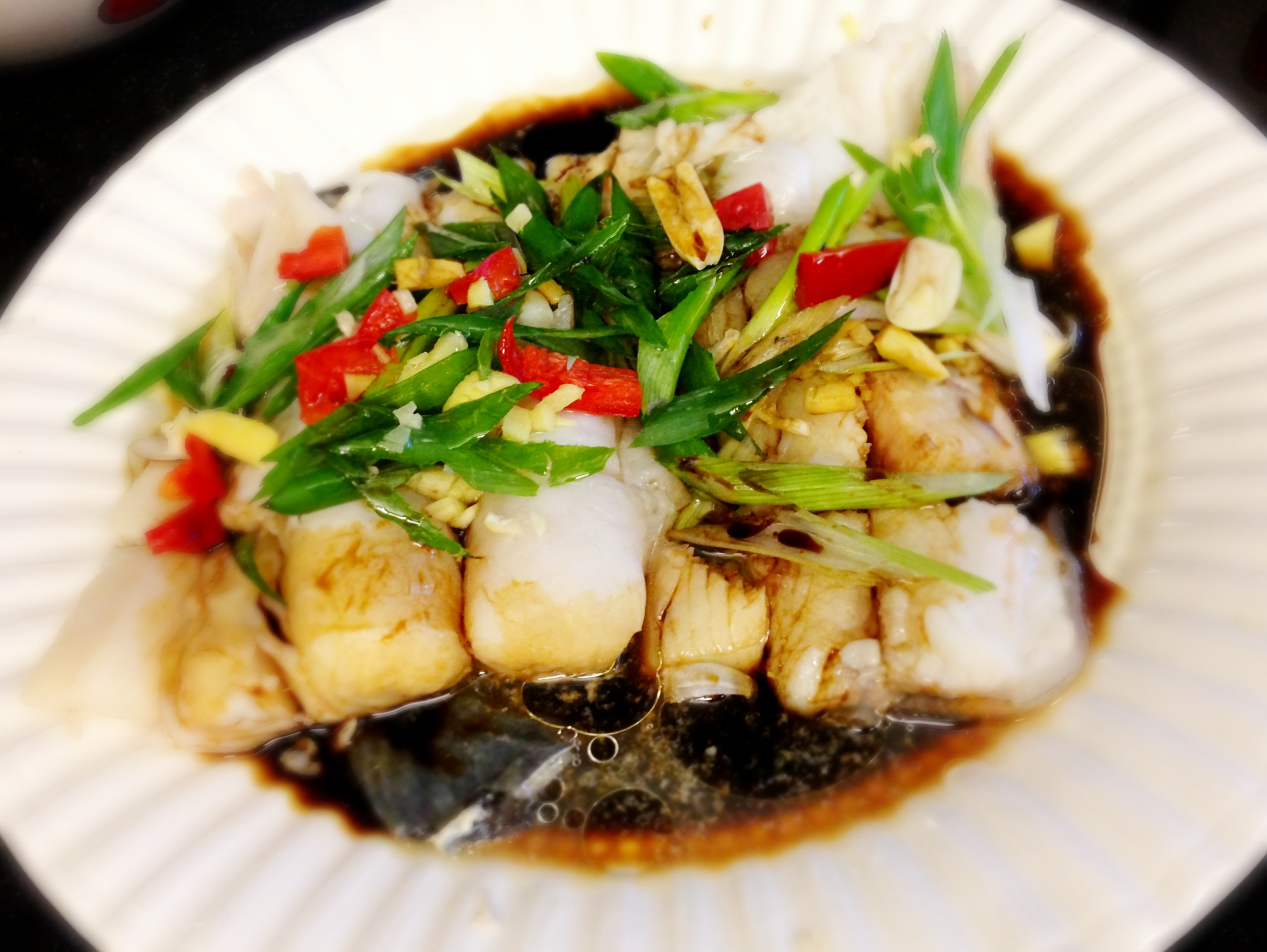 Steamed Halibut and Ling Cod