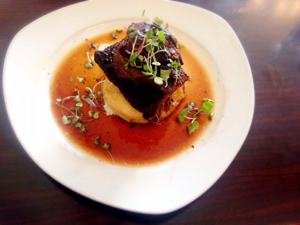 Short Rib with White Cheddar Gratin