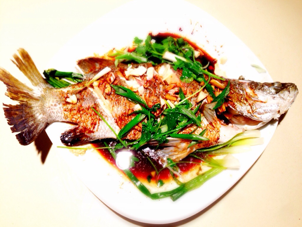 Steamed Whole Barramundi