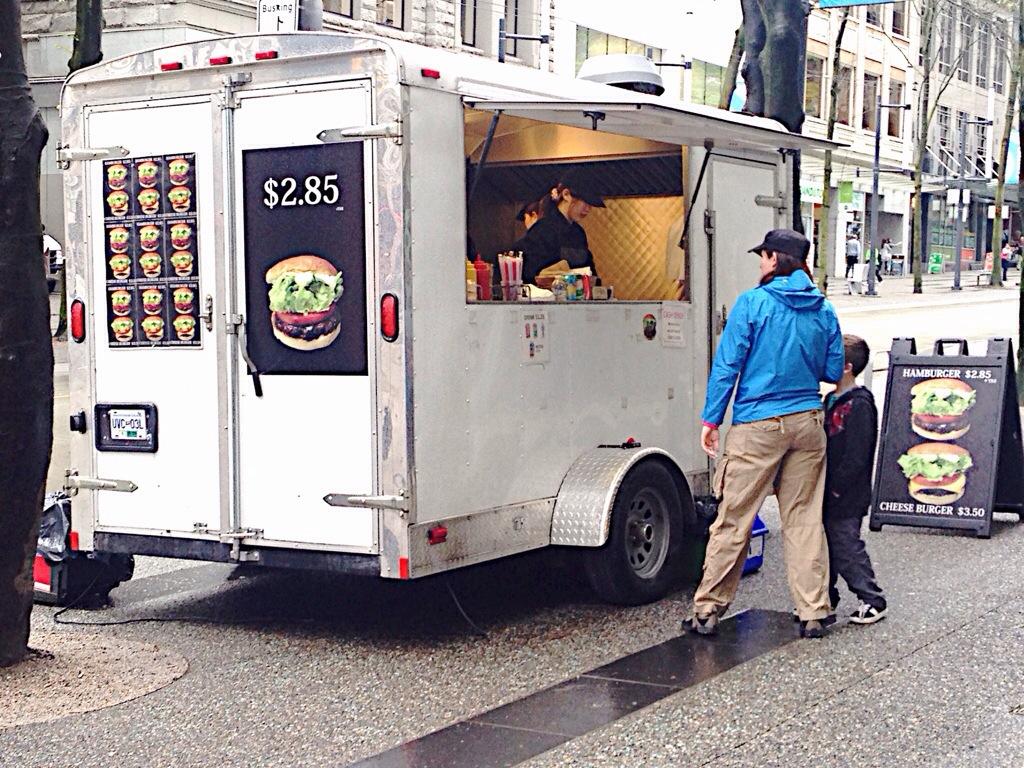 Food Truck in Vancouver: Hamburger $2.85