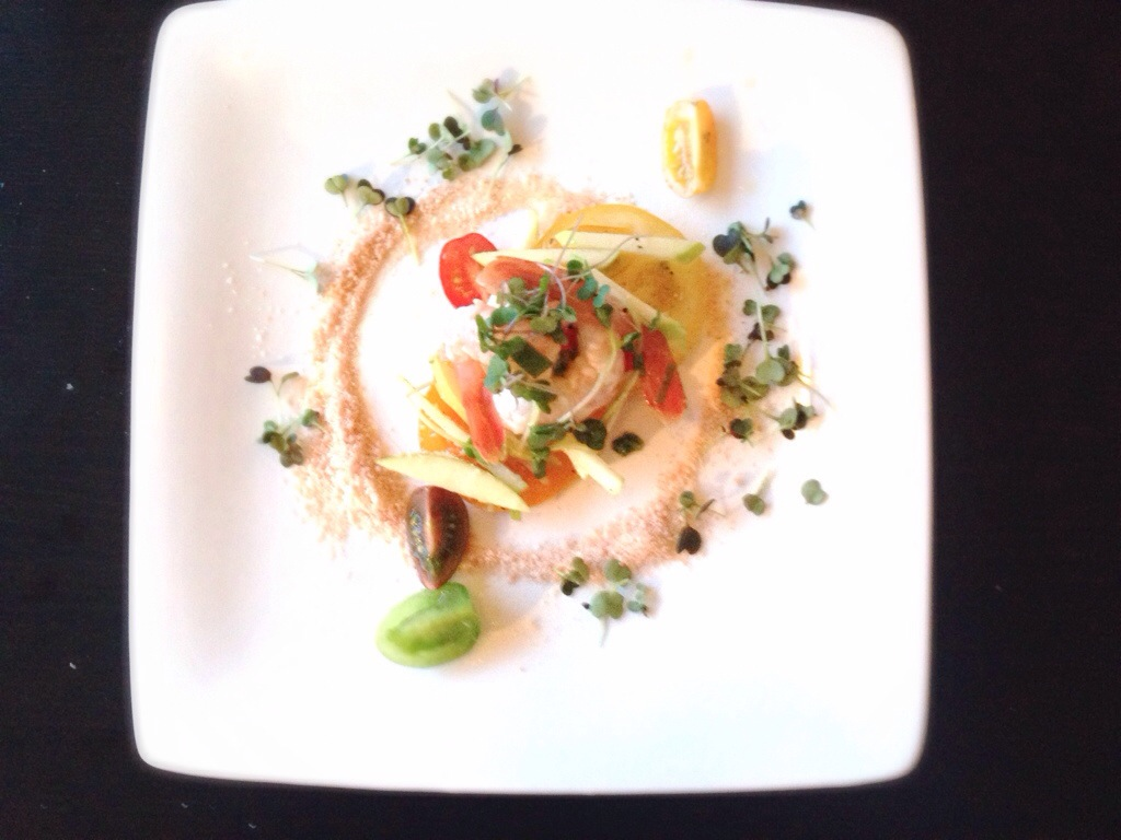 A Colorful Spot Prawn Ceviche On Tomato Sands
