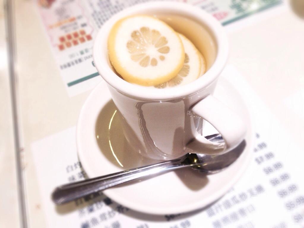 Hot Lemon Honey Water @ The One Cafe