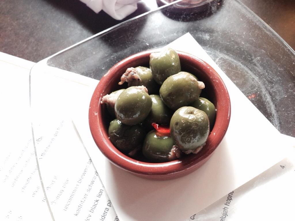 Sausage Stuffed Olives @ Serious Pie on Westlake