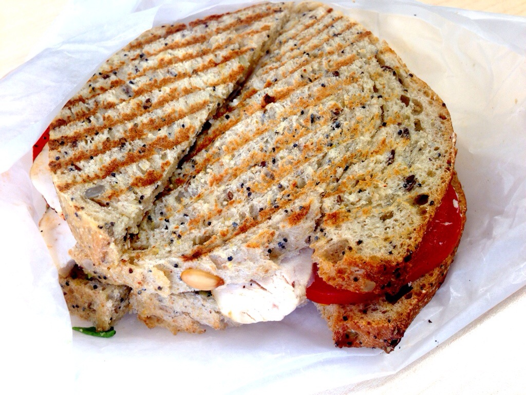 Chicken Avocado Tomato Sandwich @ Koffie