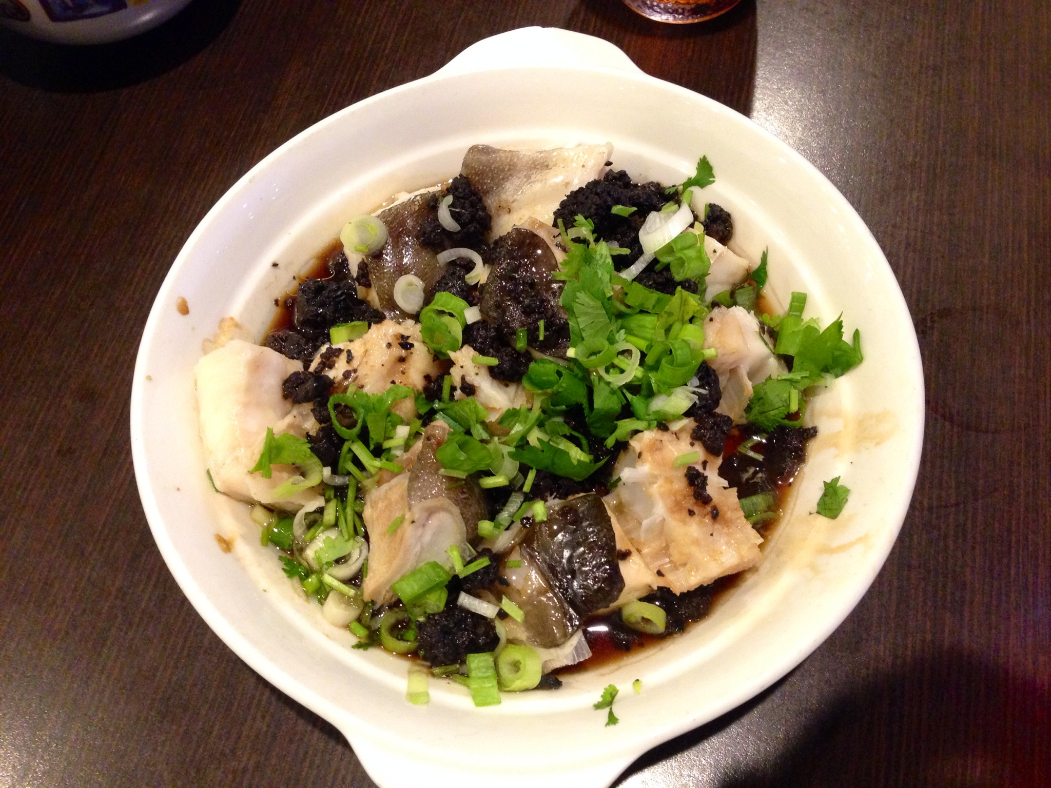Steamed Halibut Belly with Black Beans @ Deer Garden