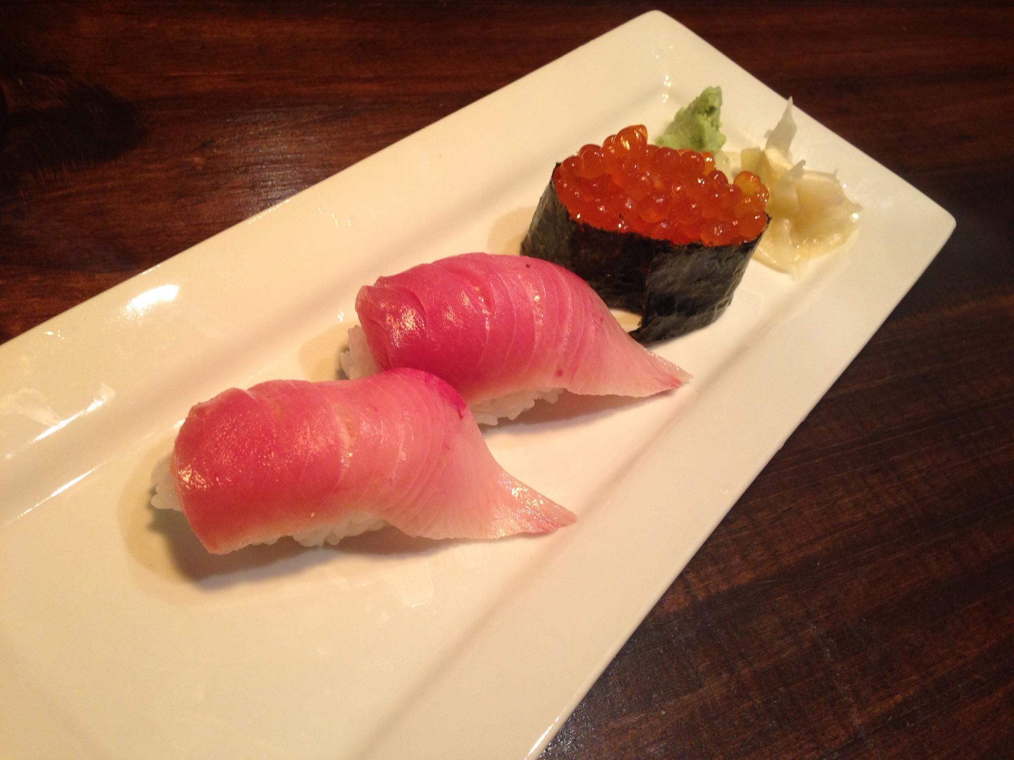 Hamachi & Ikura @ Gami Sushi