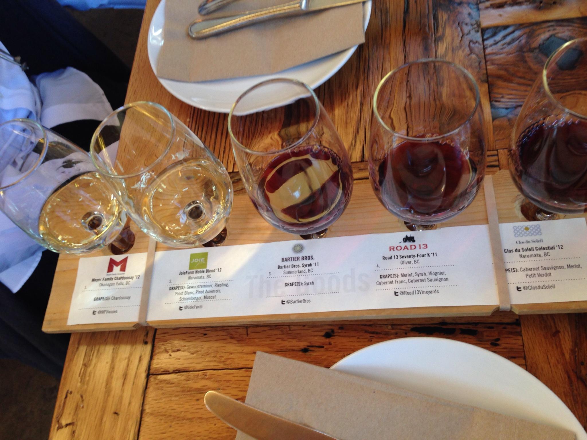Premium Wine Flight @ Vancouver Urban Winery