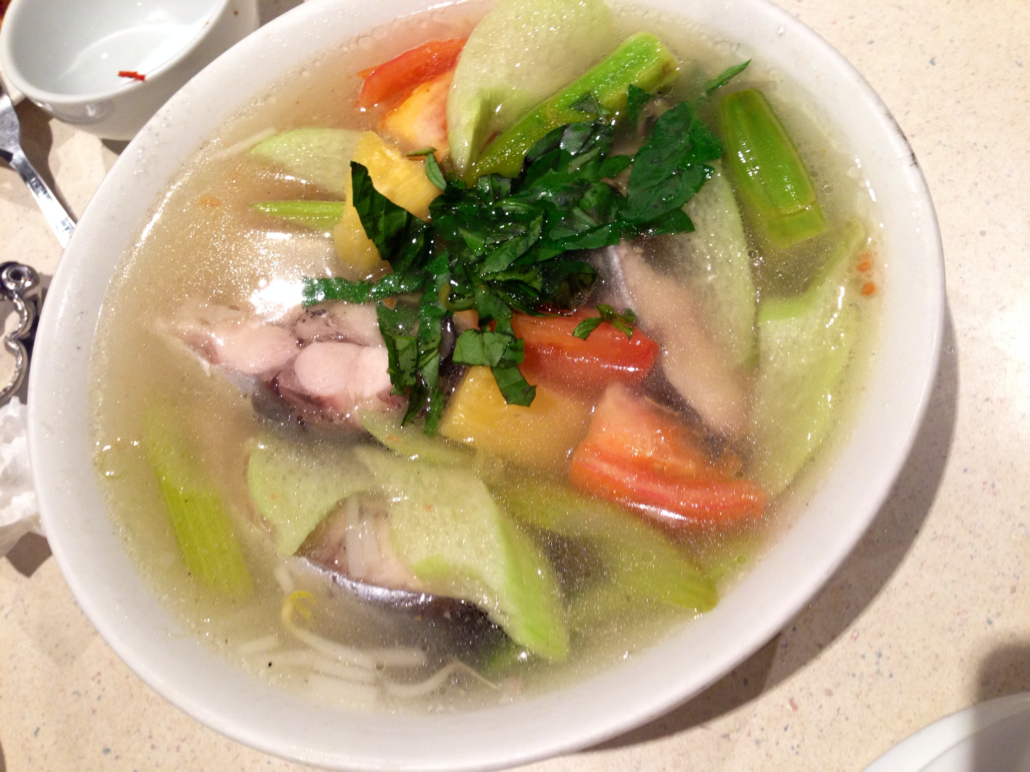 Sweet and Sour Cat Fish Soup @ Pho Tan