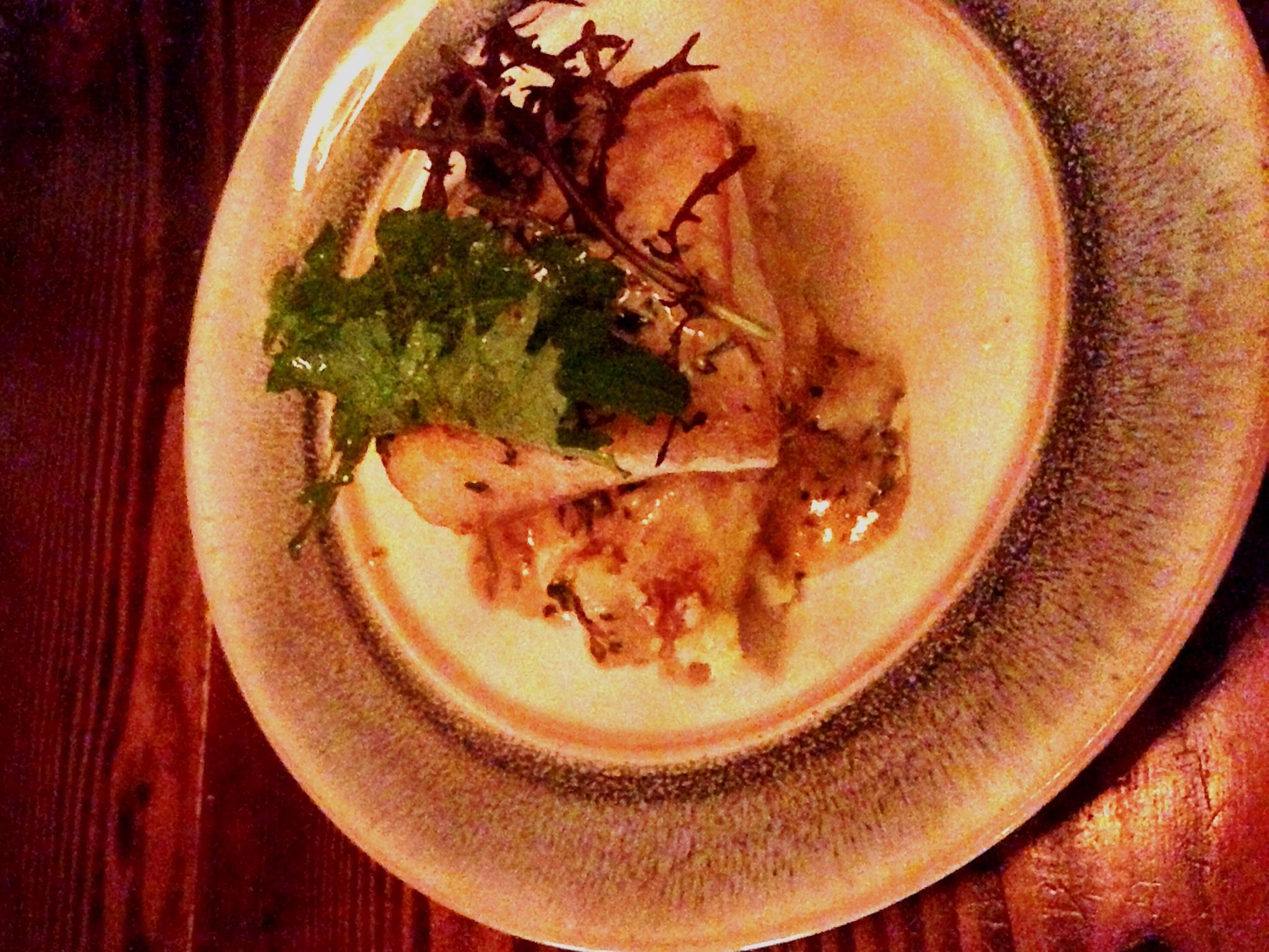 roasted sablefish, bagna cauda, Yukon gold potatoes