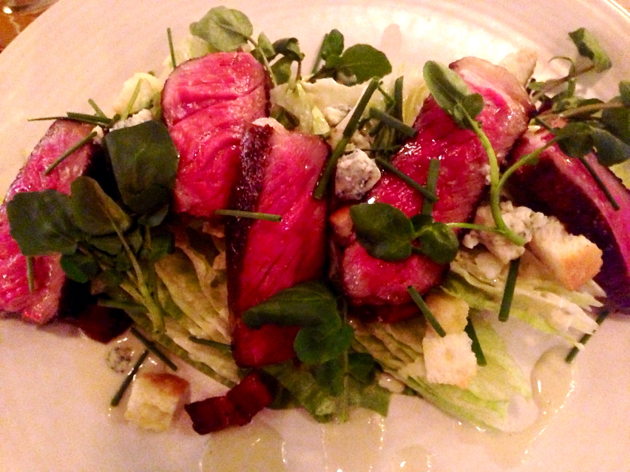 Beef Striploin Salad @ The Blackbird