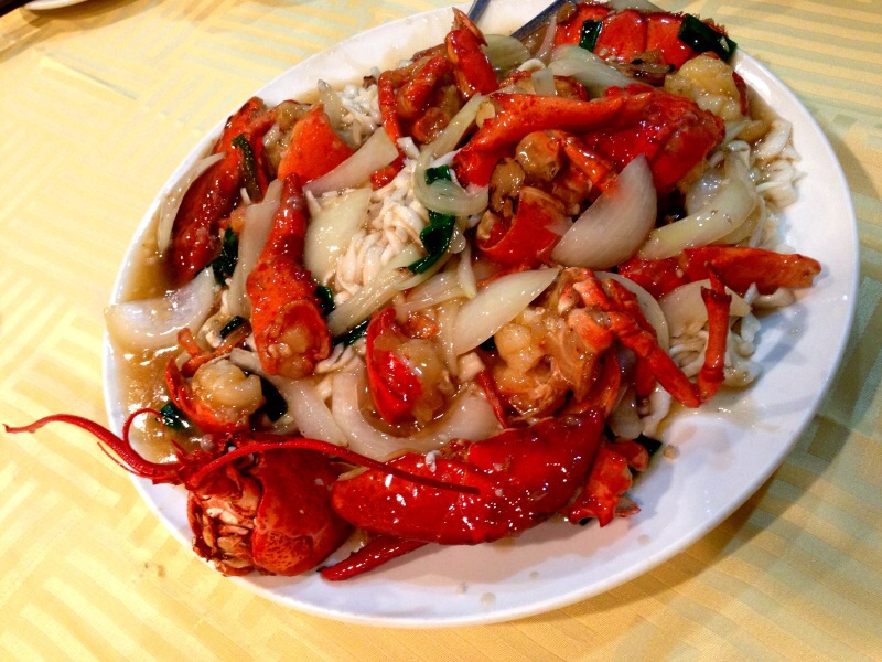 Stir Fried Lobster with Ginger and Green Onion @ Always Seafood