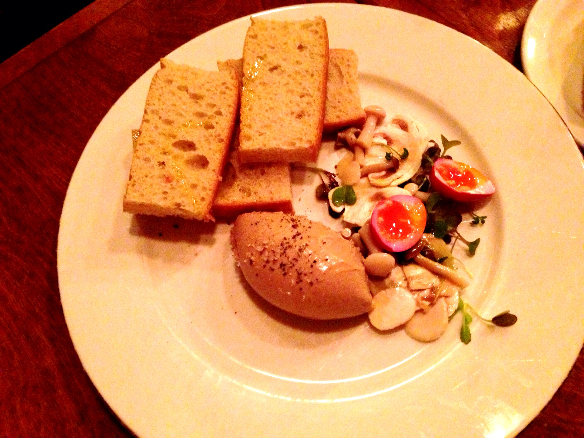 Antipasto Special: Chicken Liver Mouse, Mushroom, and Quail Egg @ Ask For Luigi