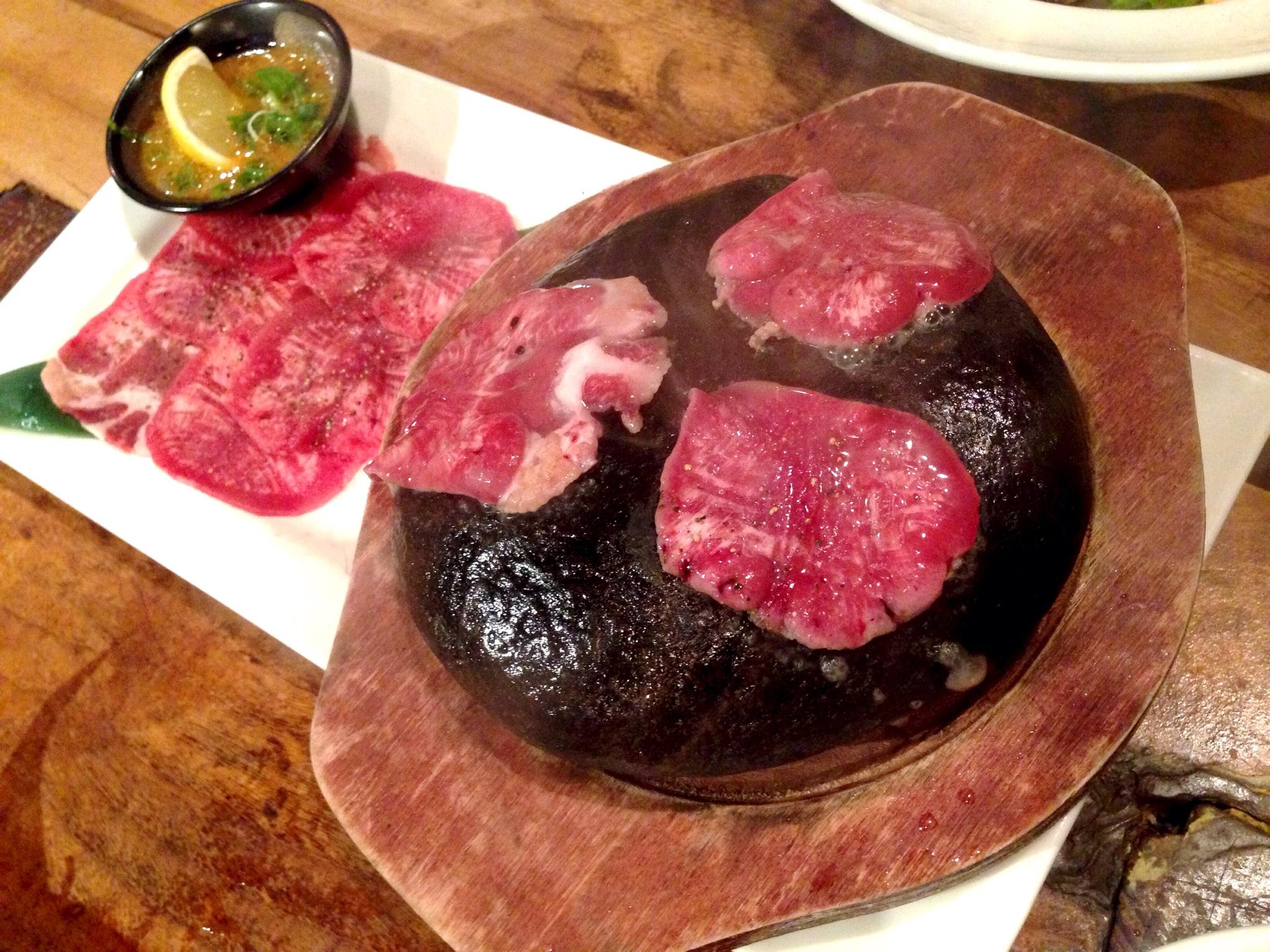 Stone Grilled Beef Tongue @ Kingyo Izakaya