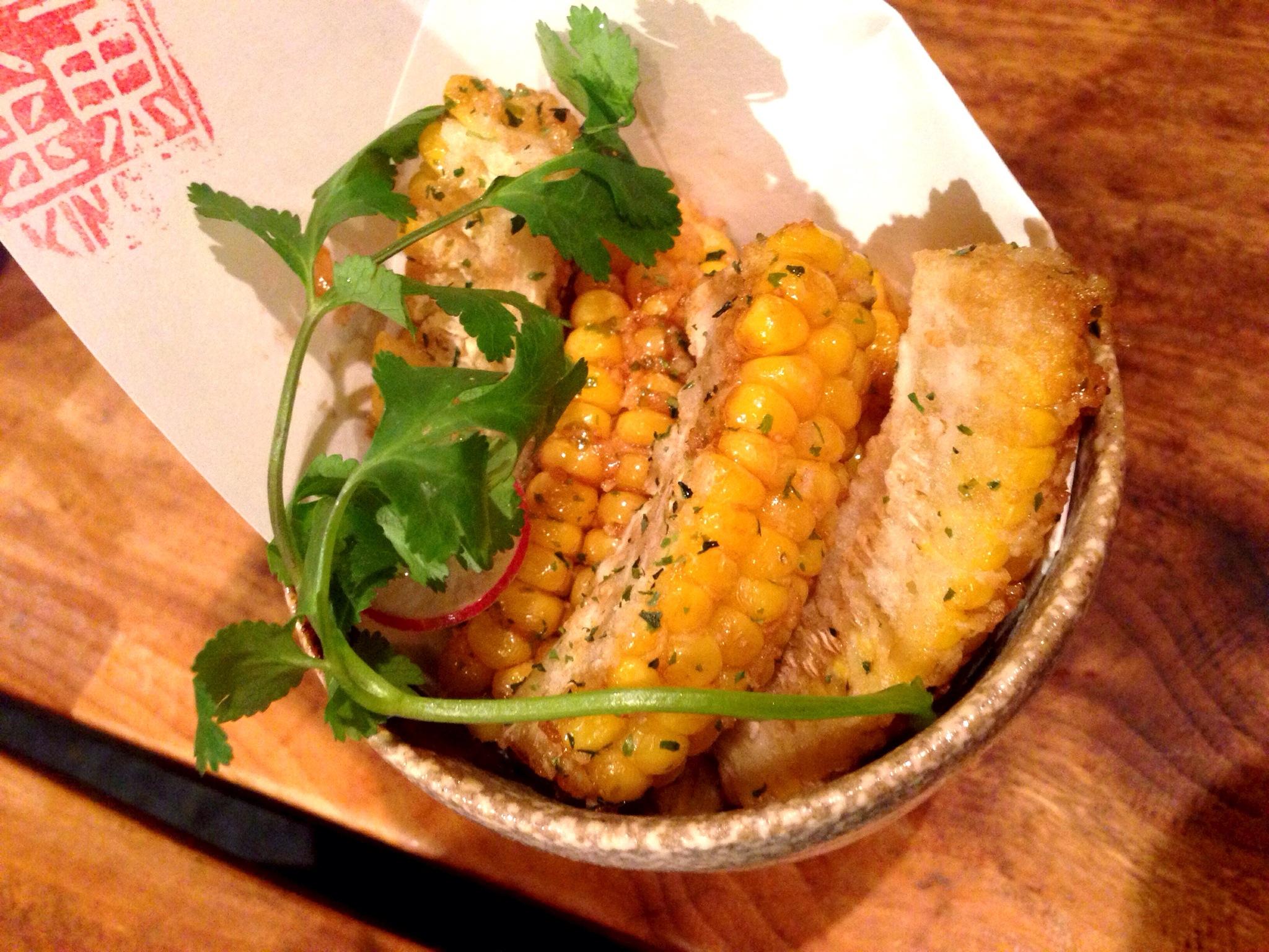 Deep Fried Fresh Corn @ Kingyo Izakaya