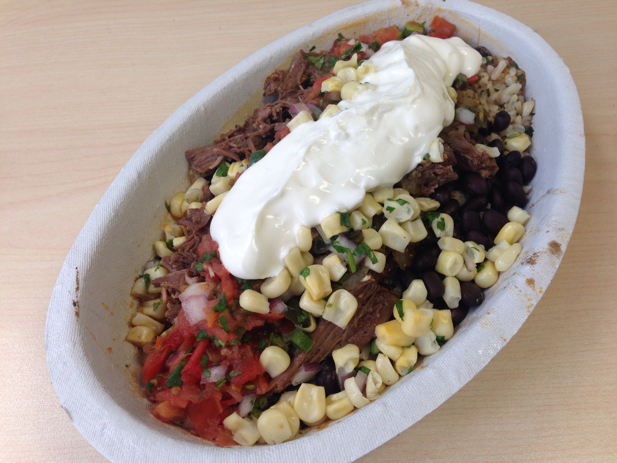 Barbacoa Bowl @ Chipotle Mexican Grill