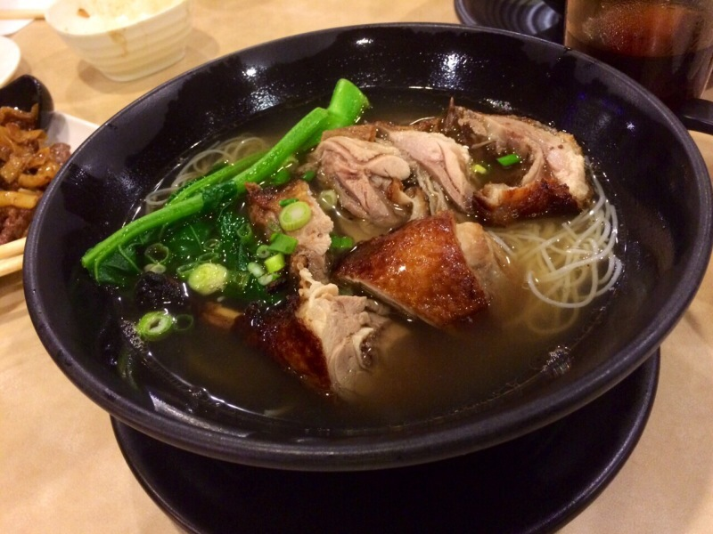 BBQ Duck Rice Vermicelli Soup @ Double Double