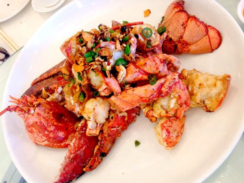 Fried Whole Lobster with Chilli and Salt
