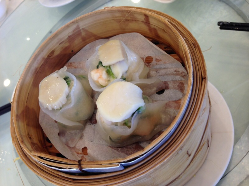 Scallop and Pea Tip Dumplings
