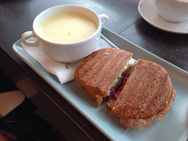soup and sandwich @ giovane cafe