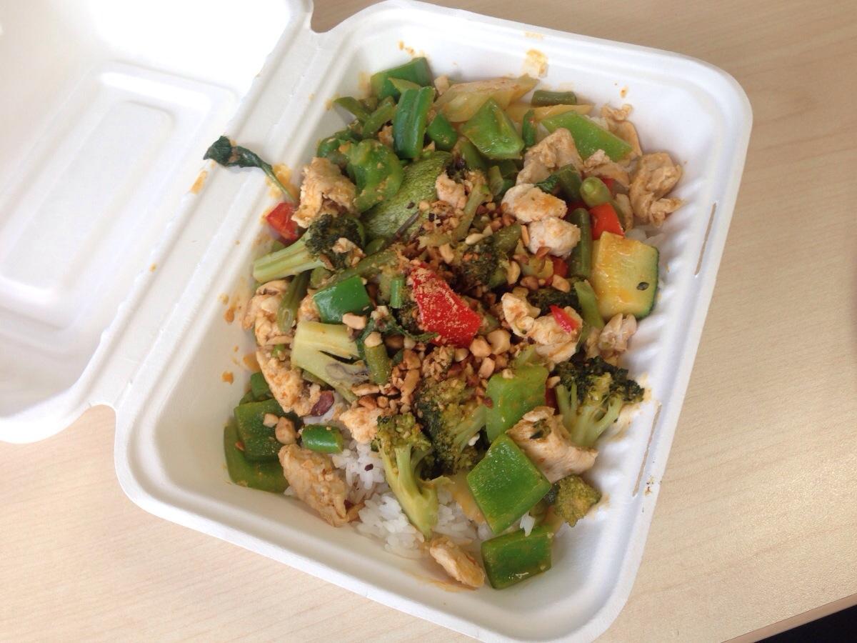 red curry chicken @ super thai food truck