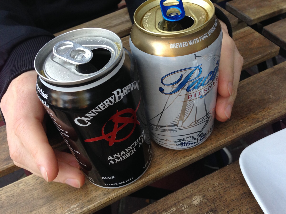 Mystery Beer Cans for Happy Hour @ Peckinpah