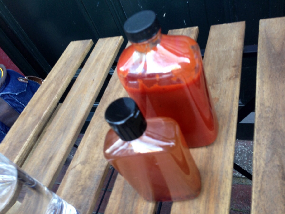 House BBQ Sauce and Chilli Vinegar @ Peckinpah