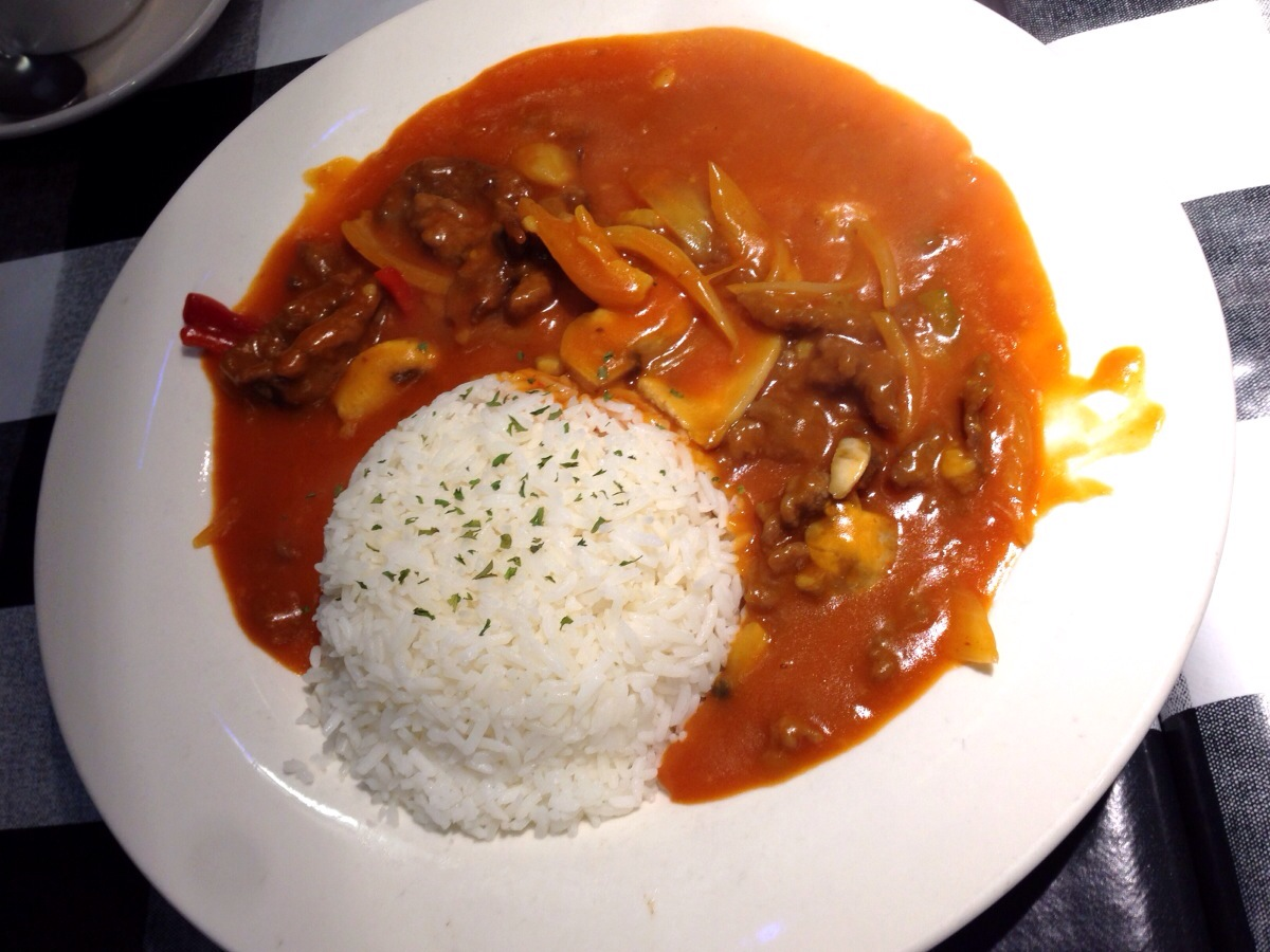 Russian Beef and Onion on Rice @ Super Stars Cafe