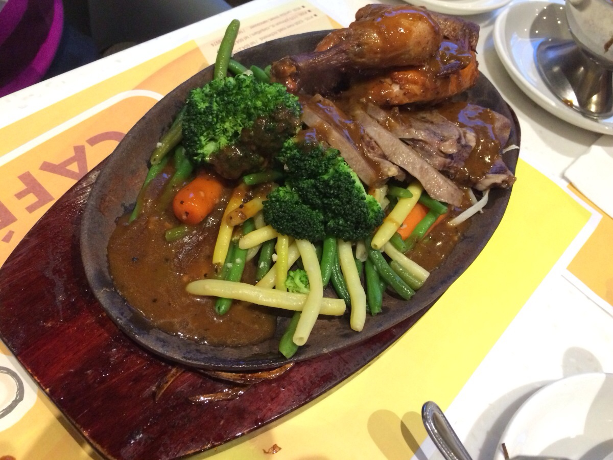 Iron Plate Combo with Beef Tongue and Spring Chicken @ Copa Cafe