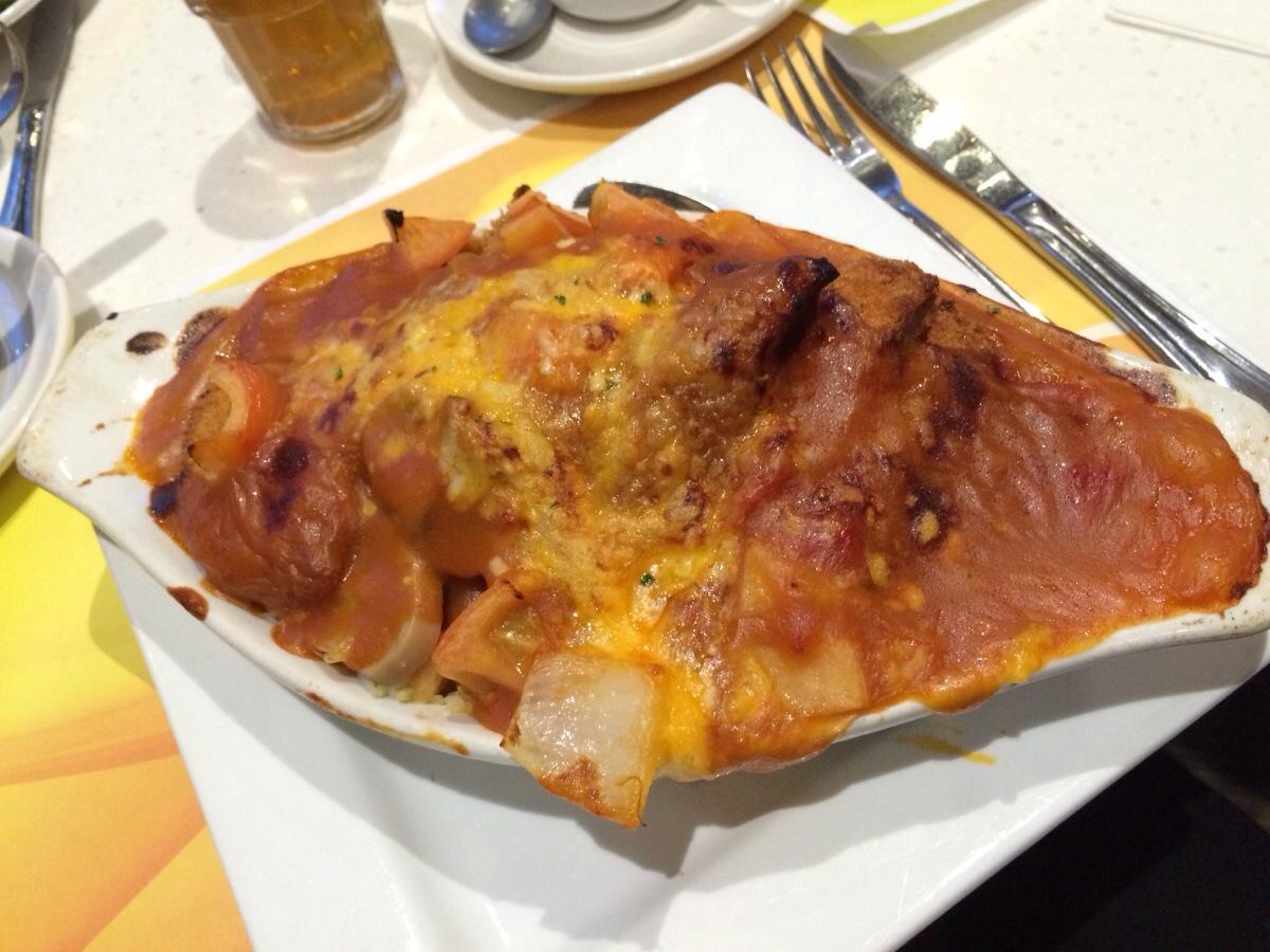 Baked Pork Chop on Rice @ Copa Cafe Richmond
