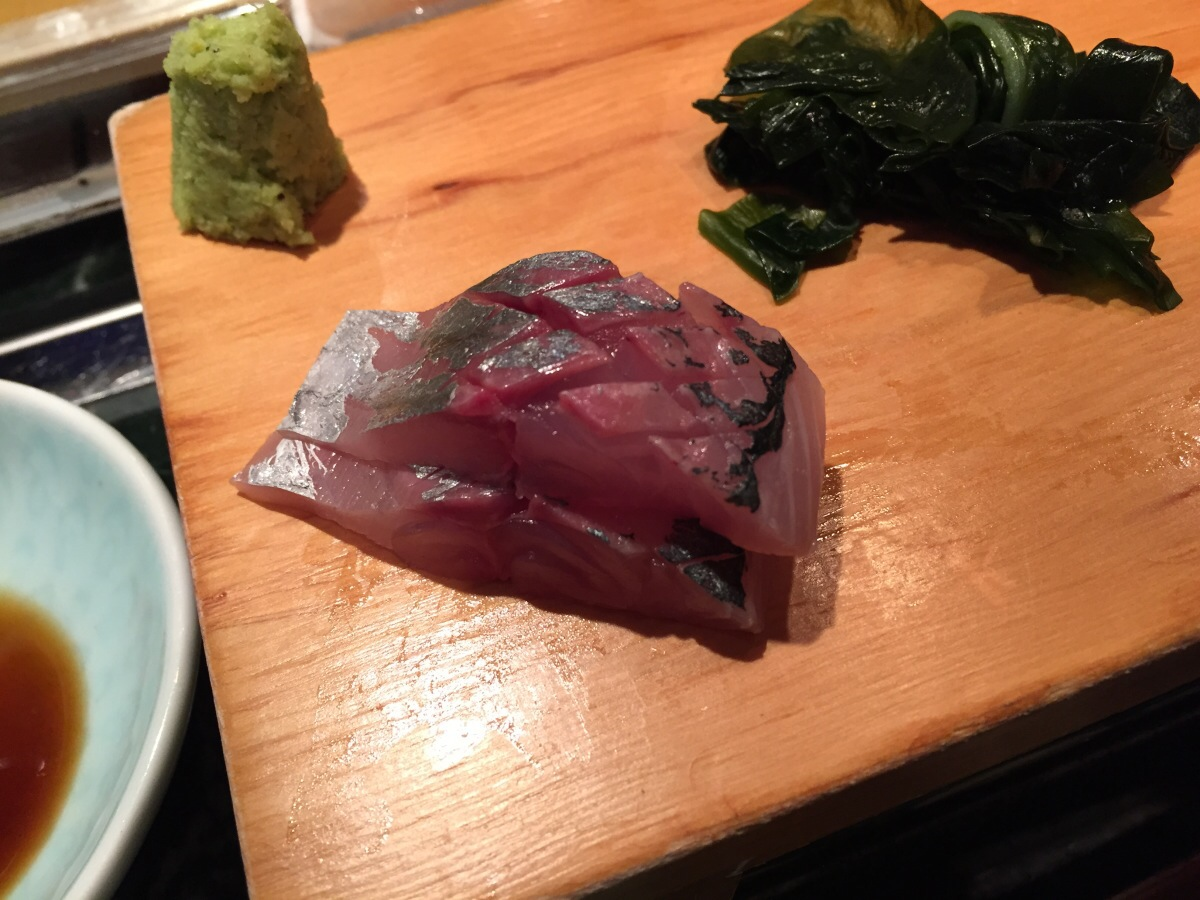 aji sashimi (jack mackerel)