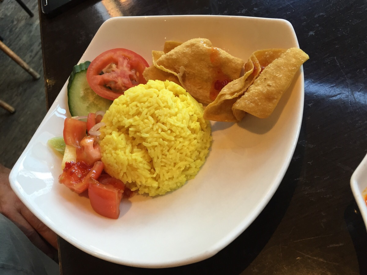 side yellow ginger rice