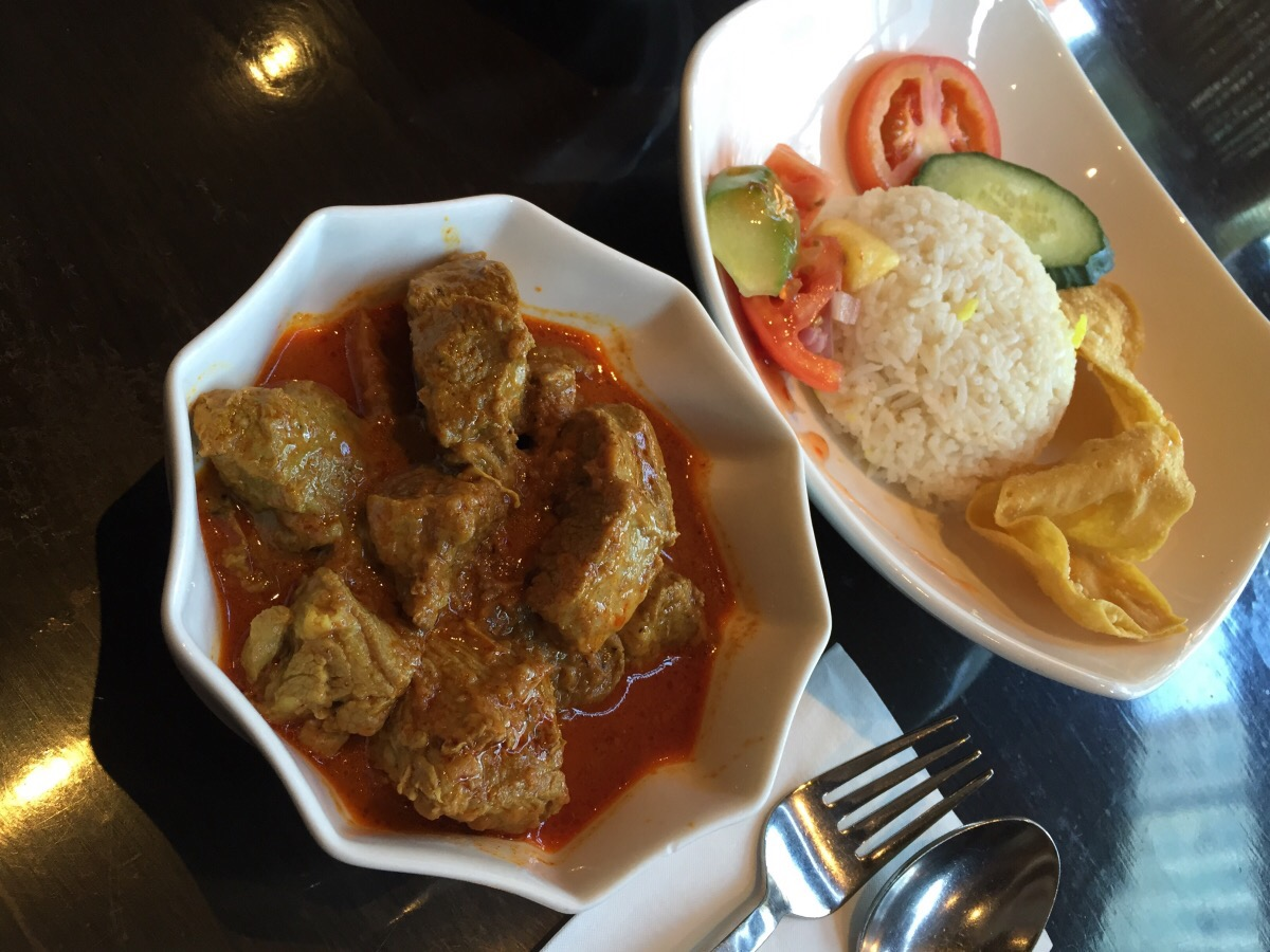 curry lamb with coconut rice