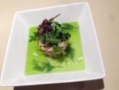Dungeness Crab Salad with Cucumber Jelly, Grainy Mustard Vinaigrette, and Baby Arugula