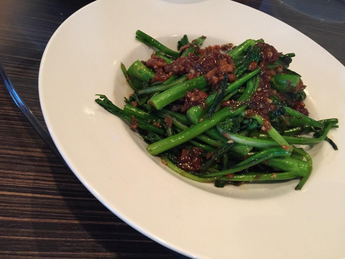 greens stir fry with mui choy