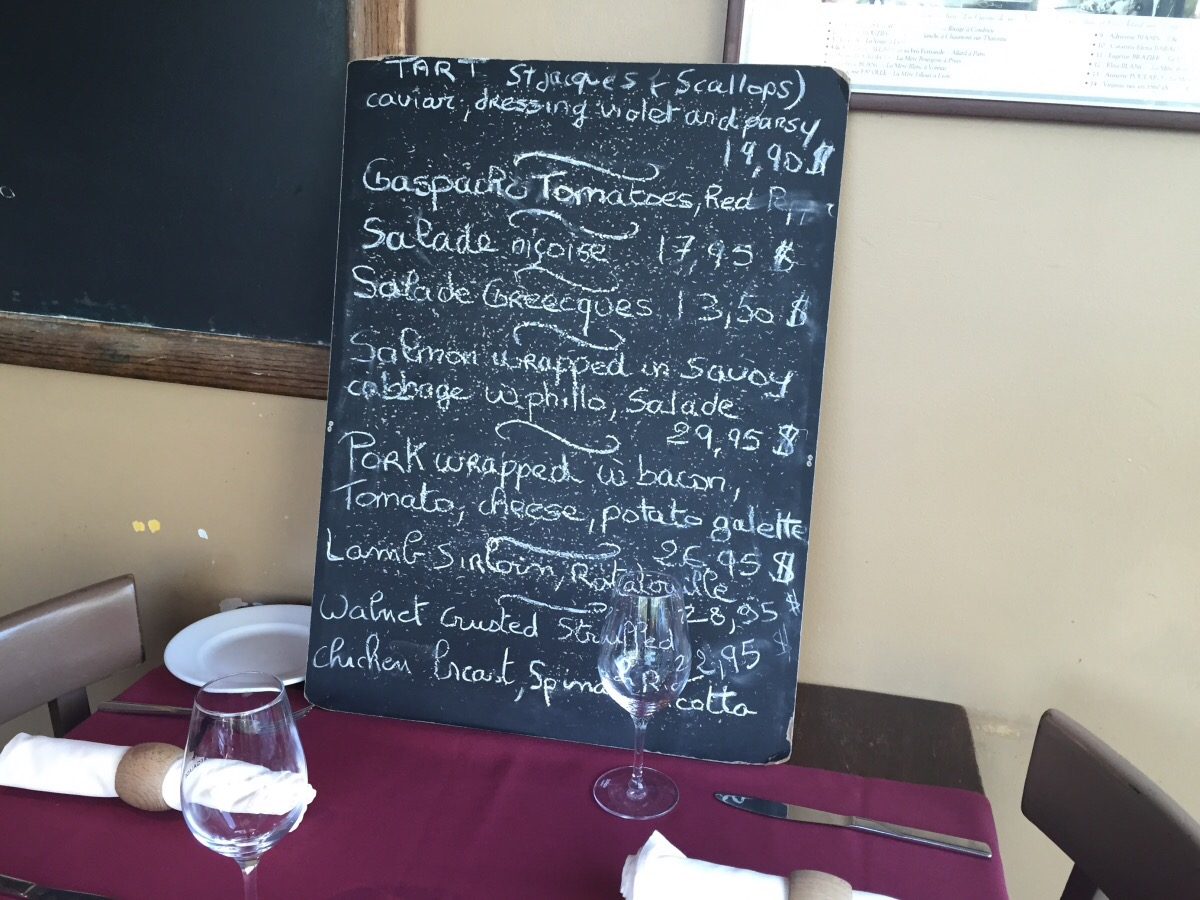 Daily specials, La Regalade