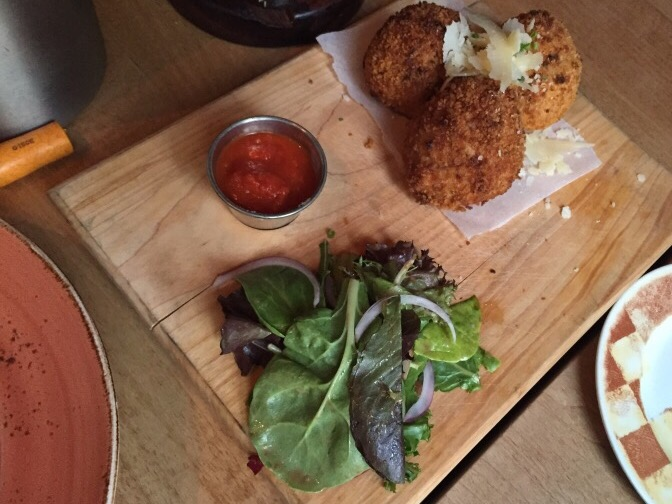ARANCINI - rice balls stuffed with ragu, melted mozzarella