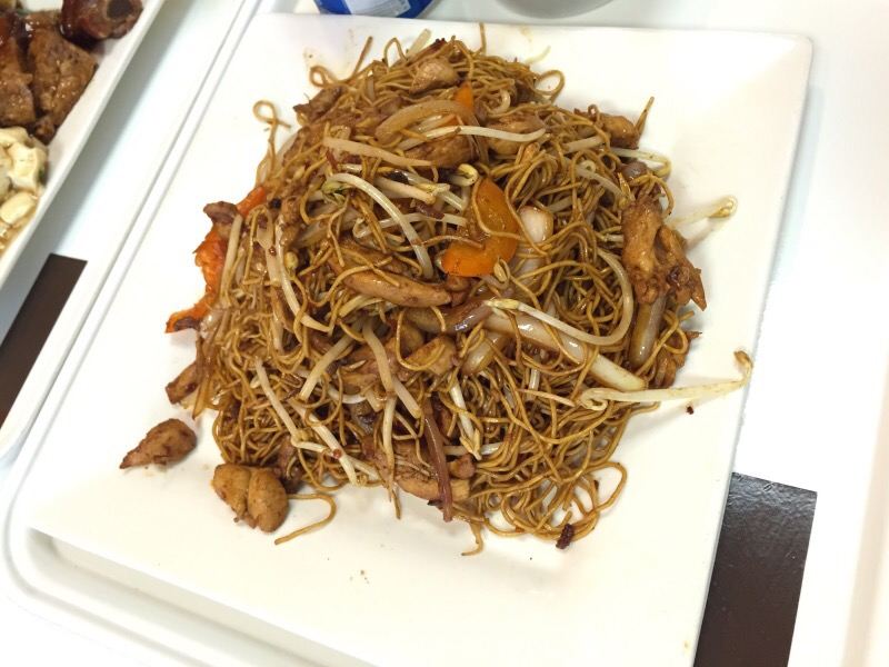 chicken chow mein with xo sauce