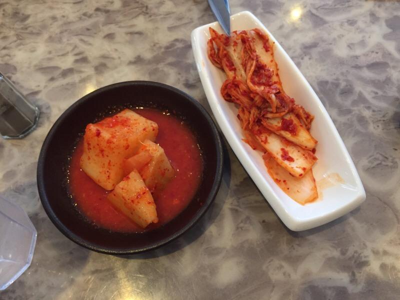 kimchi and pickled radish