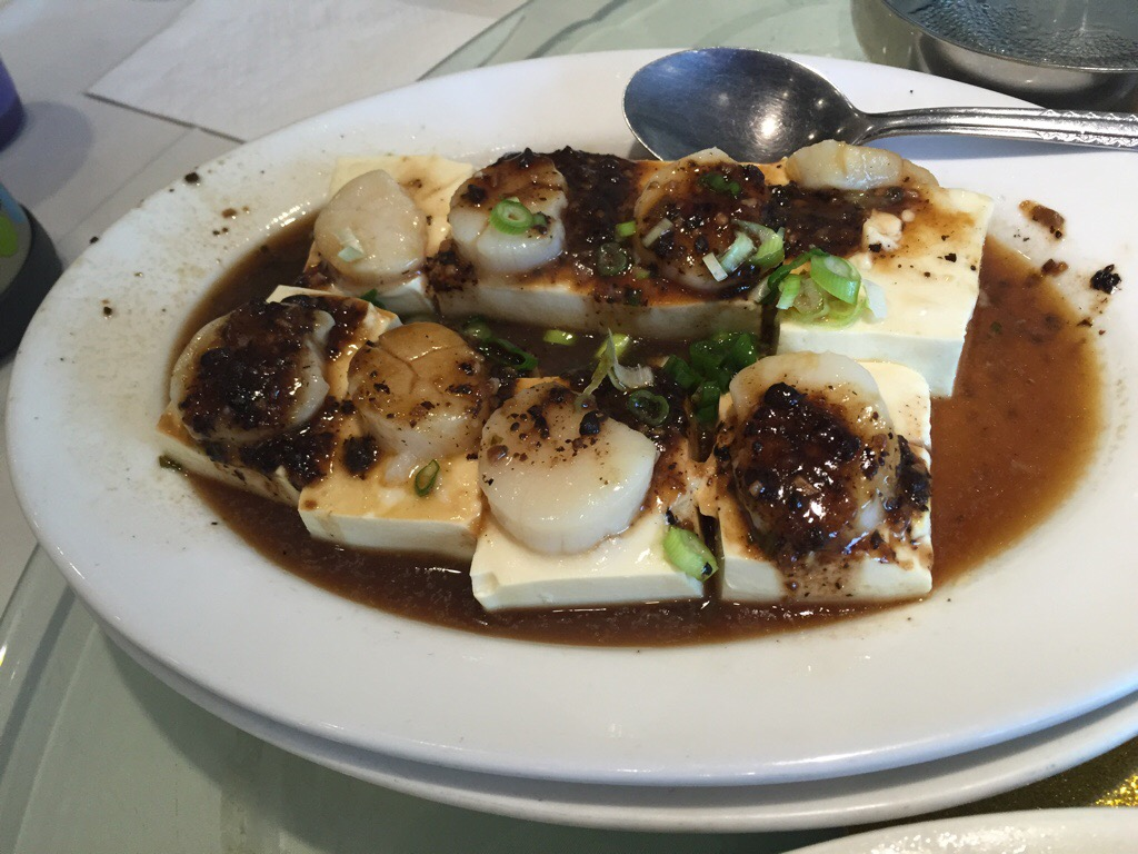 steamed tofu and scallop