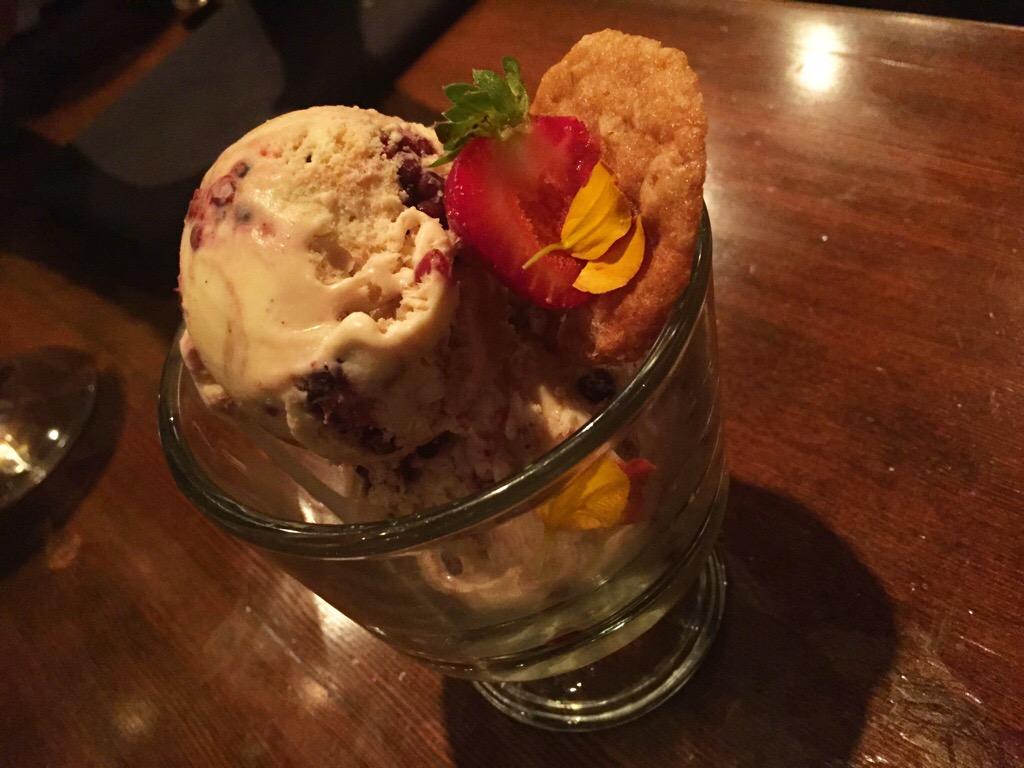 black berry balsamic ice-cream