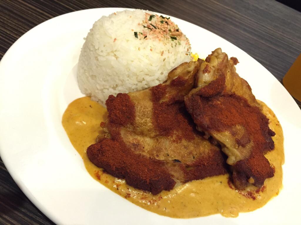 Cajun Chicken Steak with Honey Tomato Sauce on Rice