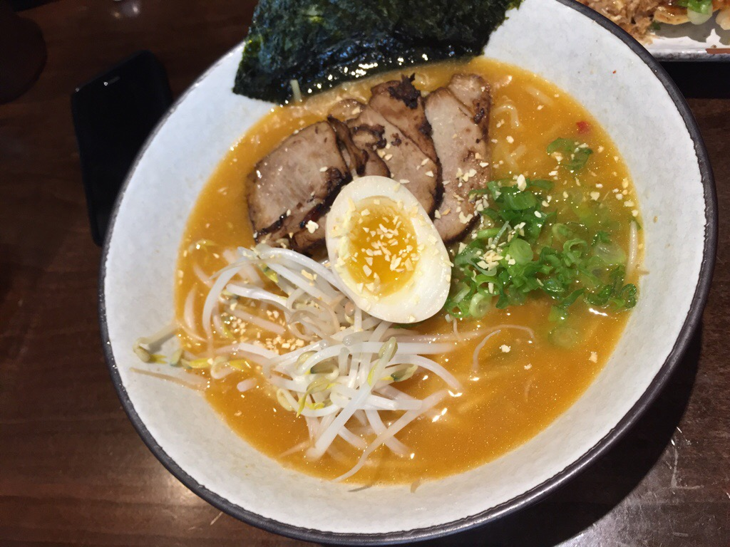 tonkotsu ramen with spicy garlic