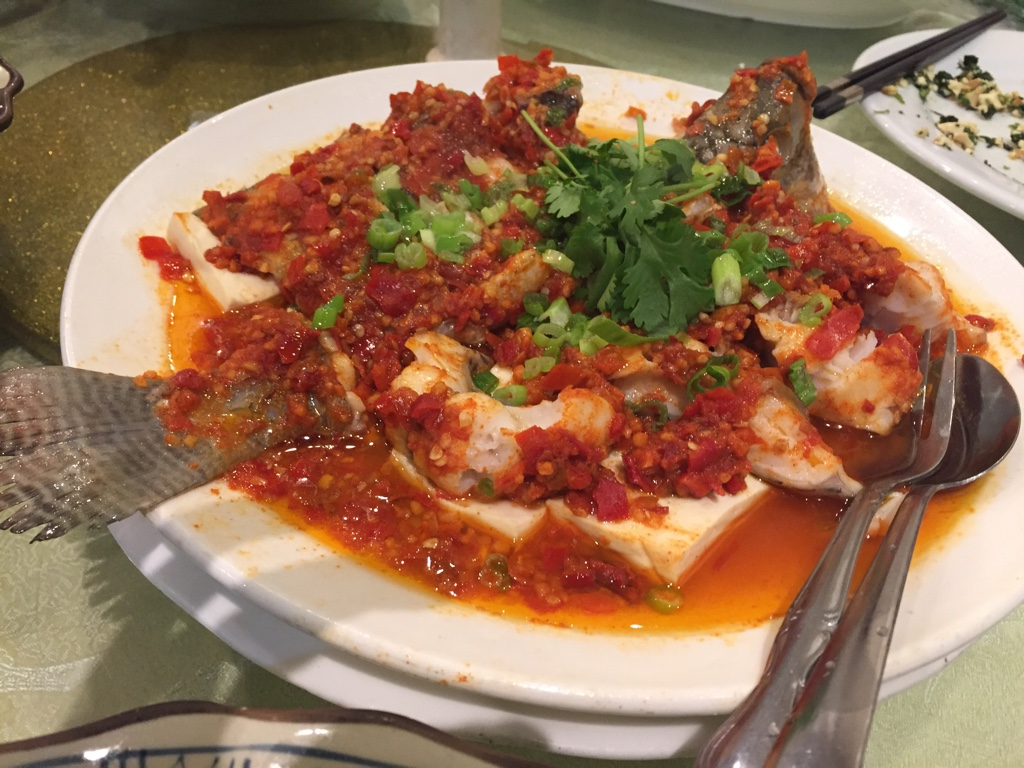 Steamed Fish with Chopped Chilli