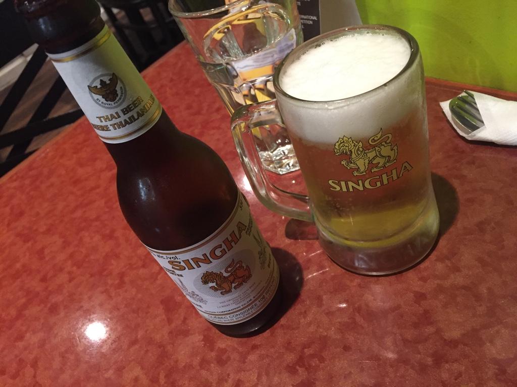 single beer at lemongrass thai bistro
