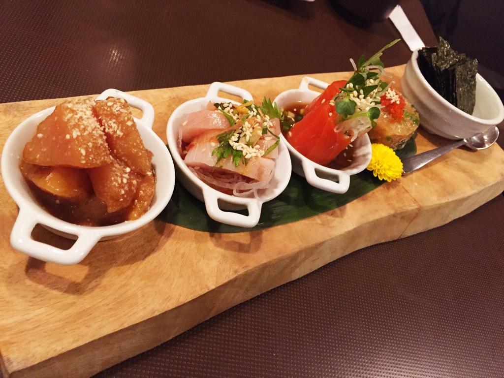 chef's sashimi sampler