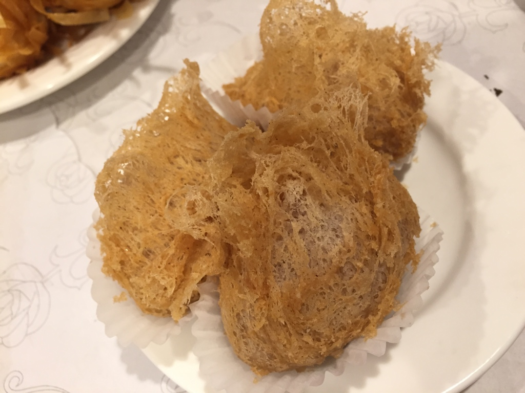 fried taro dumplings