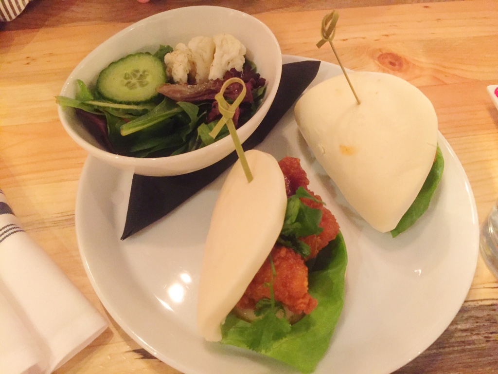 chicken karage bao sandwich
