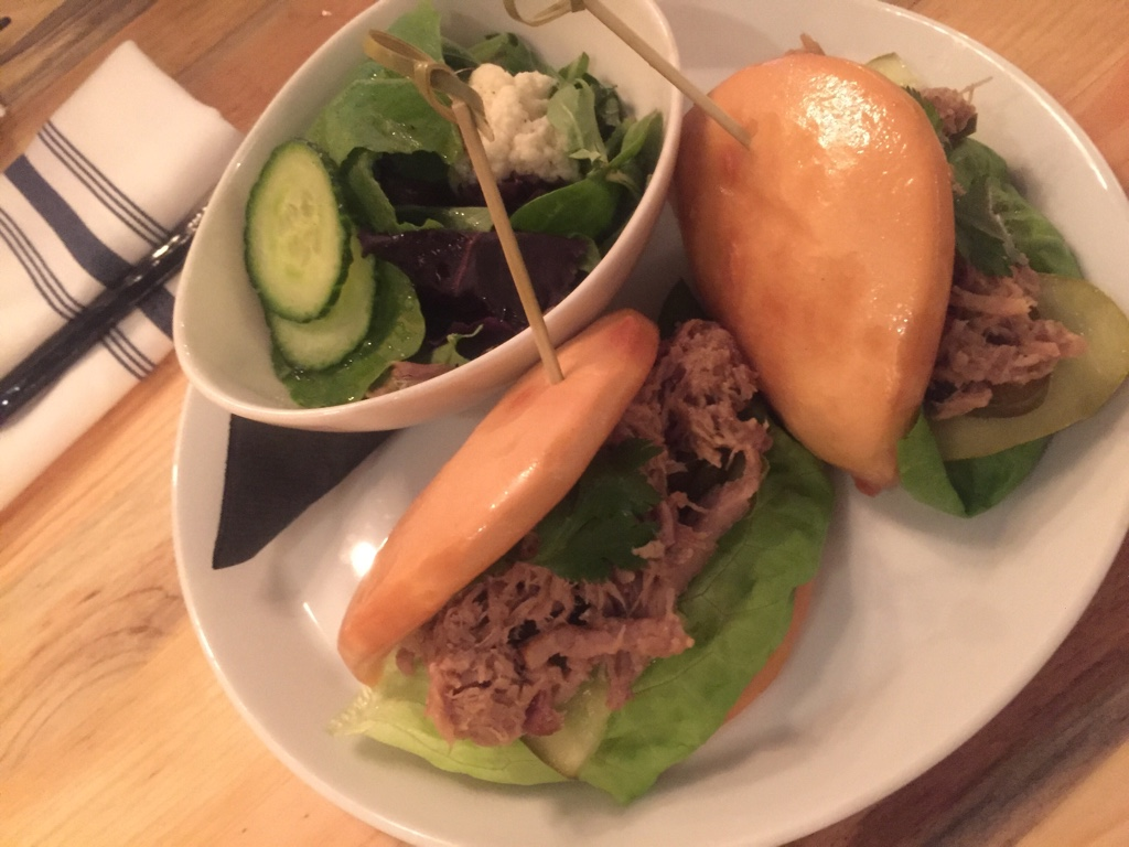 pulled pork bao sandwich