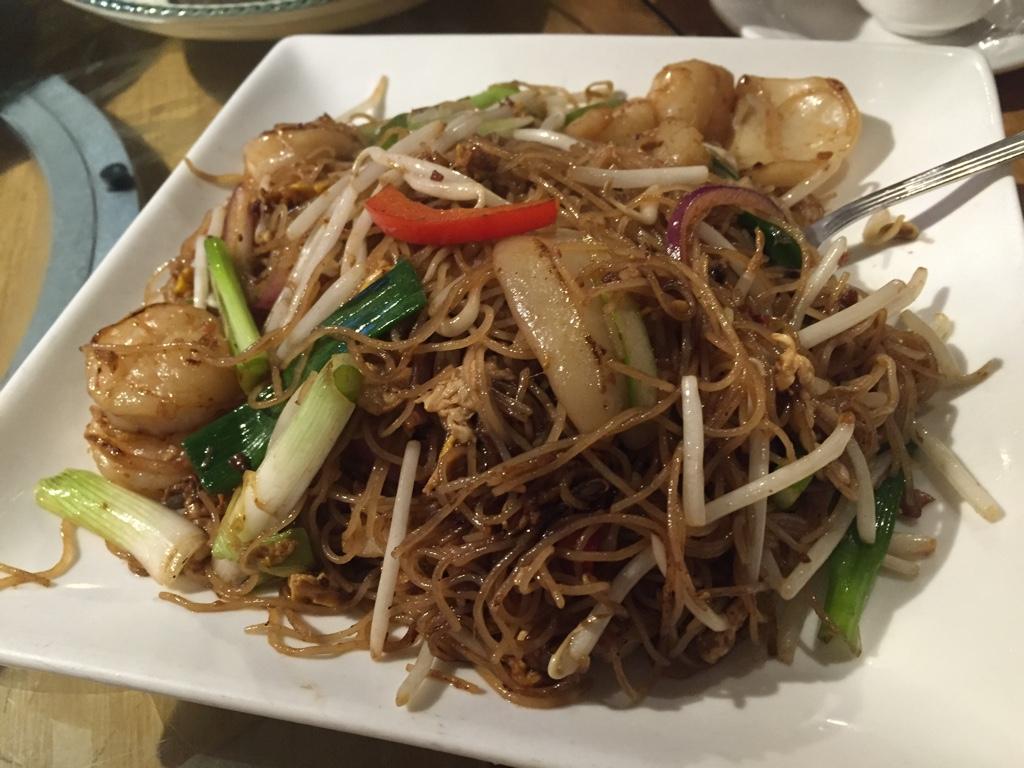 seafood rice noodle stir fry